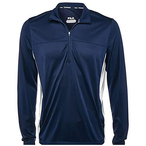 Fila Men's Core Half Zip Jacket (Small, Navy/White)