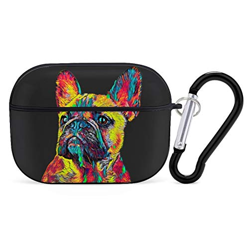 Cute French Bulldog Airpods Case Cover for Apple AirPods Pro Cute Airpod Case for Boys Girls Silicone Protective Skin Airpods Accessories with Keychain