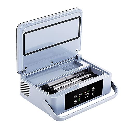 Caja refrigerada de insulina portátil con batería de litio incorporada de 10000 mAH En espera durante 6-8 horas Mini refrigerador de insulina Adecuado para viajes al aire libre Refrigerador de autom
