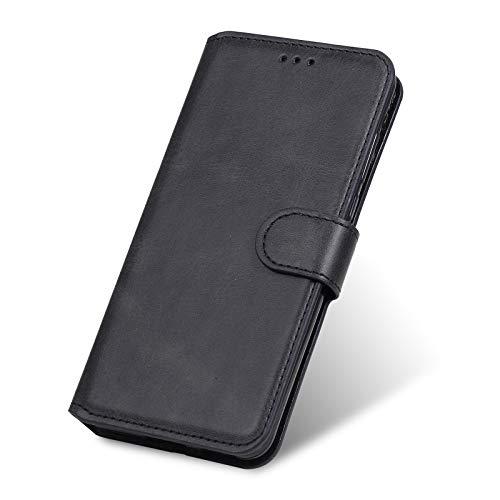 TANYO Funda Leather Folio Adecuado para OPPO Find X3, PU Premium Cuero Fundas, Ranuras para Tarjetas, Cierre Magnético, Stand Function Flip Wallet Case Cover. Negro