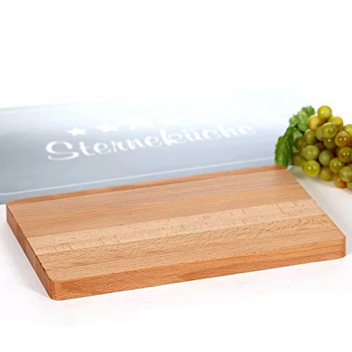 Bütic GmbH Bütic beuken snijplank, serveerplank, houten plank, kaasplank geolied Rechteckig 30 X 20 X 2cm
