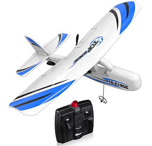 Remote Control Plane Rc Airplane for Adults Kids and Beginners, Ready to Fly Planes 2 Channel RTF Rc Plane | Radio Controlled 2.4G for Indoors and Outdoors TR-C185G