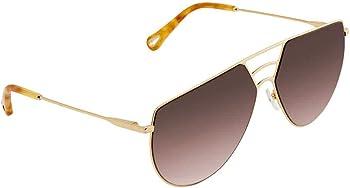 Chloe Ricky Brown Gradient Round Women's Sunglasses