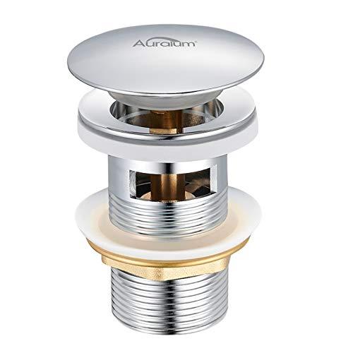 Auralum Pop up Ventil Ablaufgarnitur mit Überlauf für Waschbecken/Waschtisch