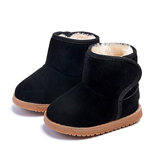 Morbuy Winter Baby Warme Stiefel, Kinder Mädchen Junge Schuhe Schnee Stiefel Draussen Casual Kleinkind Warme rutschfest Bequem Winterschuhe Leder Schneestiefel Weihnachten Geschenk