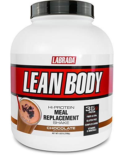 Lean Body All-in-One Chocolate Meal Replacement Shake. 35g Protein, Whey Blend, 7g Healthy Fats & Fibre, 22 Vitamins and Minerals, No Artificial Colours, Gluten Free, (4.6lb Jug) LABRADA