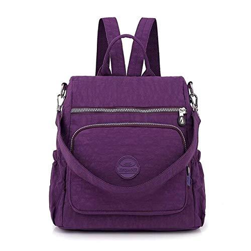 QPYYBR Mochila multifuncional Mochila de moda femenina Mochila escolar impermeable Bolsa de equipaje de viaje