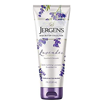 Jergens Lavender Body Butter Body and Hand Lotion Moisturizer for Women 7 Fl Oz  Pack of 1  with Essential Oils for Indulgent Moisturization