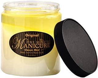 One Minute Manicure Hand, Foot & Body Moisturizing Scrub - 30 Oz (Original Classic Mint)