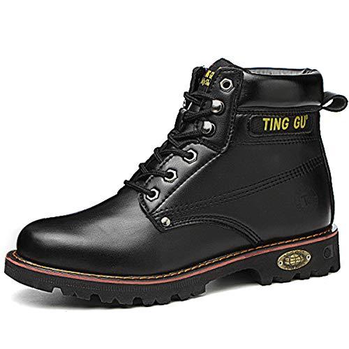 CHNHIRA Chaussure de Securité Homme Basket Securite Femmes Travail Bottes de Protection (EU42 Noir Montantes)