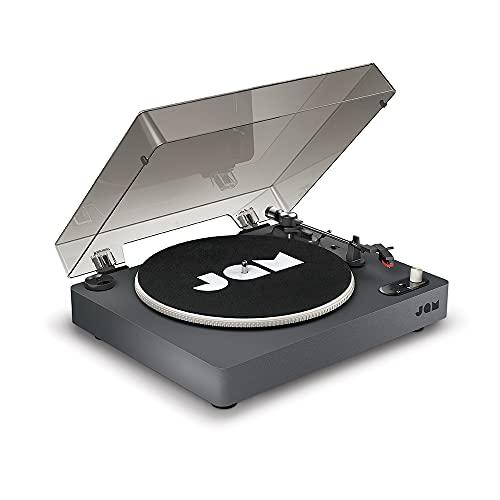 Jam Audio Spun Out Platine Bluetooth - Lecteur vinyles 33 tours, 45tours et 78 tours - Entraînement par 3 courroies pour un son supérieur - Sortie – Convertit vyniles en MP3 - Housse incluse
