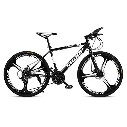 XNEQ 24/27/30 Pulgadas de Bicicletas de montaña para Adultos, Doble Freno de Disco, una de Las Ruedas, Hombres y Mujeres Estudiante Velocidad de Bicicletas