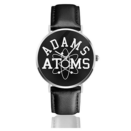 Unisex Business Casual Revenge of The Nerds Adams Atoms Armbanduhr Quarz Leder mit schwarzem Lederband für Männer und Frauen Young Collection Geschenk