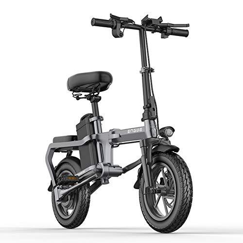 WM Bicicleta eléctrica Plegable sin Cadena 350w14 Pulgadas batería de Litio Mini Bicicleta eléctrica 48v10a Ciudad Bicicleta eléctrica 32 km/h Scooter de aceleración máxima