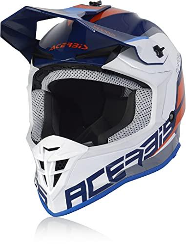 Acerbis Linear Casco Motocross Blu/Bianco M (57/58)