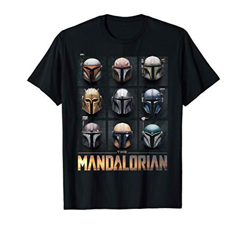 Star Wars The Mandalorian Helmet Box Up Maglietta