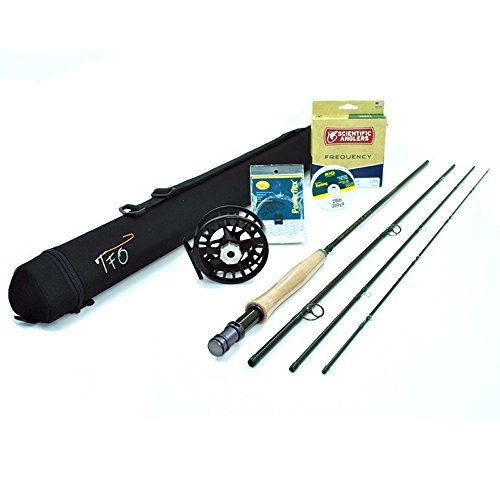 """TFO BVK Fly Rod Outfit (5wt, 9'0"""", 4pc) w/Lamson Remix Fly Reel"""