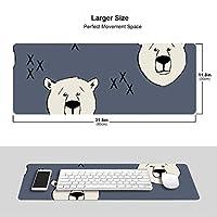 可愛いクマ マウスパッド キーボードパッド 滑らかマウスパッド ゲーミングパッド 大型 オフィス 家庭用