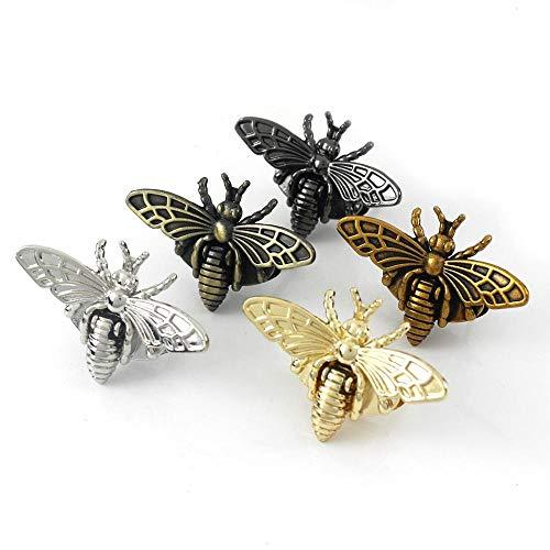 ZHYHAM Metall-Bienenförmiger Drehverschluss, Retro-Stil, modische Taschenschließe, Hardware für Lederhandwerk, Tasche, Handtasche, Geldbörse, DIY-Zubehör, antikes Kupfer