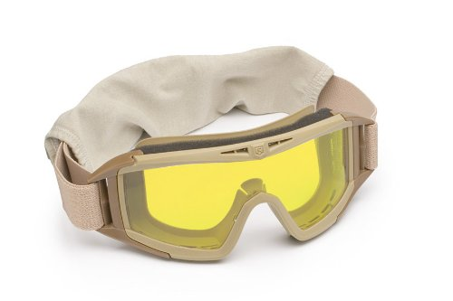 Revision Military Desert Locust Goggle Basic Yellow High-Contrast 4-0309-0521 Desert Locust Goggle Basic Yellow High-Contrast Desert Tan, Vermillion