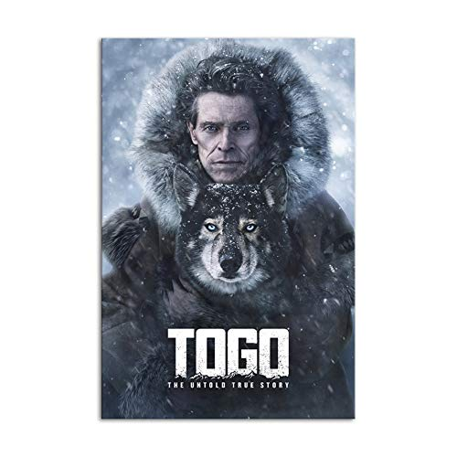 ZHINING Posters and Prints Togo Sled Dog Classic Movie Picture Canvas Posters and Prints HD Print Oil Painting Mural Living Room Home Decor Frameless Painting