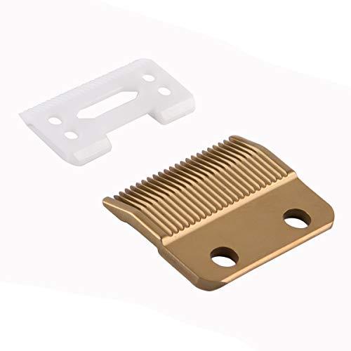 BESTBOMG Pro Animal verstelbare tondeuses, 2 gaten (1 mm - 3 mm) # 1006, Super Taper # 8400-30-15-10 messenset, vervanging # 1037-400 Magic Clip Compatibel met alle professionele Wahl-tondeuses (goud)