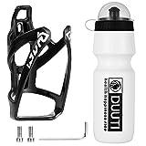 LucaSng Fahrrad Trinkflaschenhalter und 25oz Premium BPA Freie Sportflasche, Fahrrad Trinkflaschen Set Leichter Fahrrad Flaschenhalter für Rennrad, Mountainbike. Unverzichtbar zum Reiten