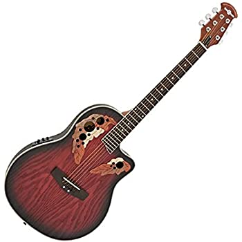 Guitarra Electroacustica Deluxe Roundback de Gear4music Red Burst ...