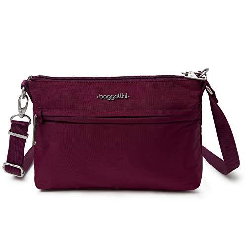 Baggallini Anti-Theft Memento Crossbody Bag, Eggplant