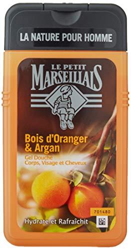 Le Petit Marseillais Gel Douche Homme Corps et Cheveux Bois D'oranger & Argan Flacon 250 ml