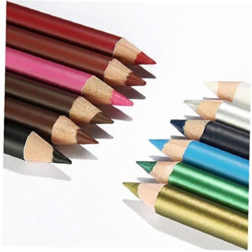 12 Couleurs Ultra Thin Liner Lip Crayon Eyeliner Set Ombres À Paupières Pen Cosmétique Cosmétique Kit Multifonctions Lèvres Yeux Cosmétiques Outil