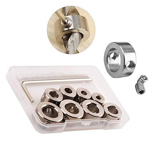 Sourcingmap - Punte per trapano, 9 pezzi, con chiave esagonale da 3 – 10 mm, per la lavorazione del legno
