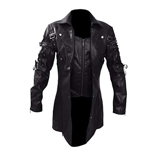 Herren Mantel Frack Jacke Gothic Gehrock Uniform Kostüm Praty Outwear Normallack Mode Steampunk Punk Retro Männer Uniformkleid