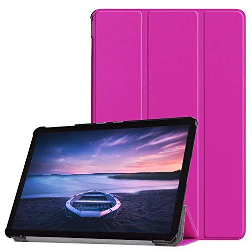 Lobwerk Hülle für Samsung Galaxy Tab S4 SM-T830 SM-T835 SM-T837 10.5 Zoll Schutzhülle Smart Cover mit Auto Sleep/Wake Lila
