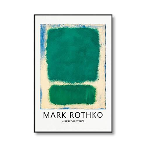 Póster de exposición famoso de MARK ROTHKO abstracto, pintura en lienzo, impresión familiar, pintura en lienzo decorativa sin marco, A3 50x75cm