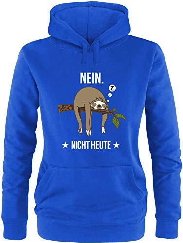 EZYshirt Faultier | Nein Nicht Heute Pullover Damen | Frauen Kapuzenpullover | Hoodie