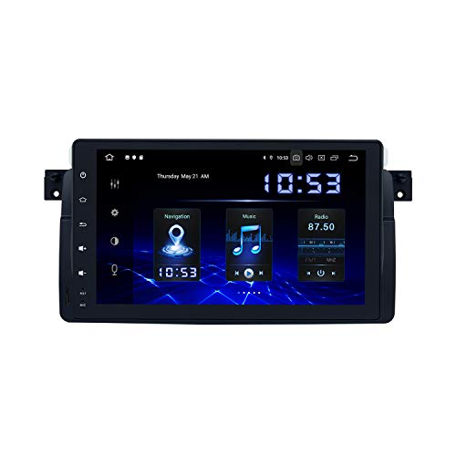 Dasaita Android 10.0 2 DIN Car Radio Bluetooth with Carplay for BMW 3 Series E46 BMW M3 1999-2005 9 Inch Car Radio Touchscreen GPS Supports WiFi USB FM/Am