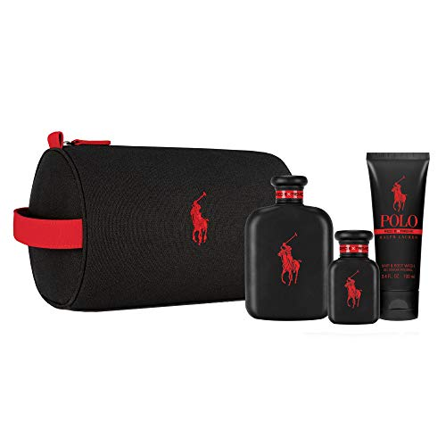 Ralph Lauren Polo Red Extreme Parfum Set 4 Piezas, 4.2 oz/125 ml