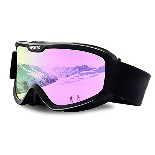 OULAIQI OTG Ski Goggles Motorcycle Goggles for Man Women Cycling Skiing UV Protection
