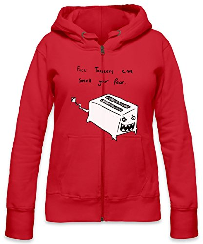 Toasters Can Smell Your Fear Womens Zipper Hoodie Large