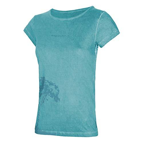 Trangoworld Columpio T-Shirt pour Femme L Bleu Clair