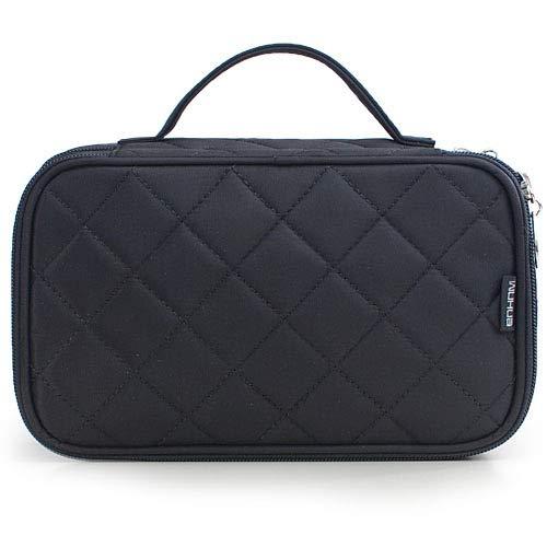 SYXX Caja de almacenaje Bolsa de Maquillaje Bolsas Mujeres Grandes Impermeables Nylon Travel Cosmetic Bag Travel Organizer Case Prepare Maquillaje Bolso de baño (Color : Negro)