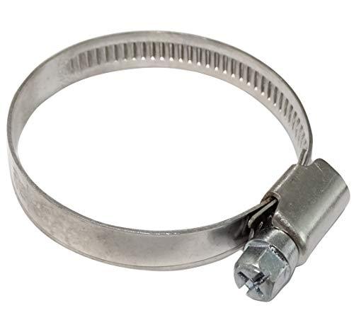AERZETIX: Juego de 5 abrazaderas de tornillo L9mm para manguera tubo jardín automóvil en acero cromado DIN 3017 (32-50mm)