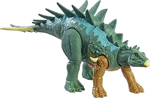 Jurassic World Fuerza Feroz Chialingosaurus Dinosaurio articulado, Figura de Juguete para niños (Mattel HBY69)