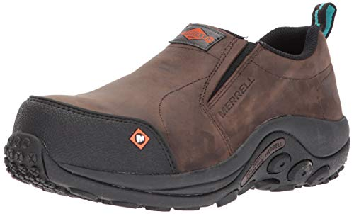 Merrell Women's Jungle Moc Comp Toe Work Shoe Construction, Espresso, 10.5