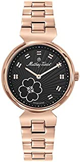 Mathey Tissot Fiore Women's Black Dial Stainless Steel Band Watch - D1089PN