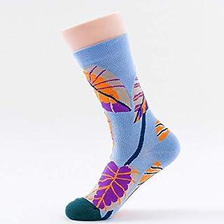 Calcetín de algodón para Mujer Calcetines de Mujer Calcetines de algodón Tubo Mujer Floral Jacquard Informal