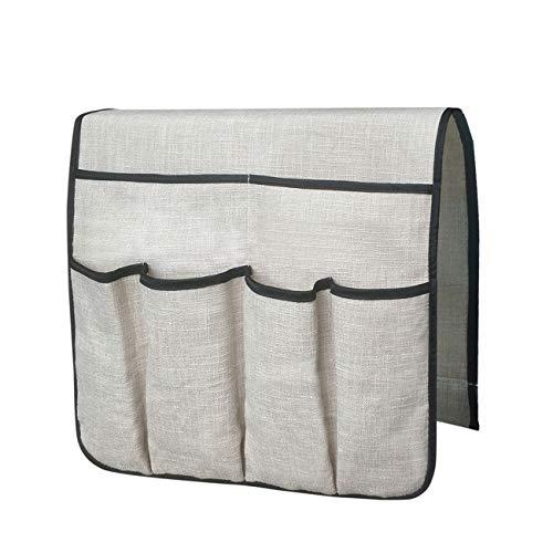 Ashley GAO Organizador de sofá grande con soporte para mando a distancia de TV, antideslizante, bolsa de almacenamiento con 6 bolsillos