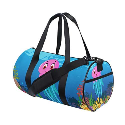 Montoj - Bolsa de deporte para gimnasio (tamaño grande), diseño de calamares