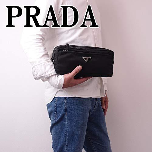 PRADA(プラダ)メンズダブルジッパーセカンドバッグ・クラッチバッグ・ポーチ2NA030-ZMY-F0002ブラック